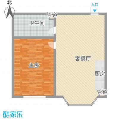 林海华庭43.93㎡4号楼2单元-3户型1室1厅1卫1厨