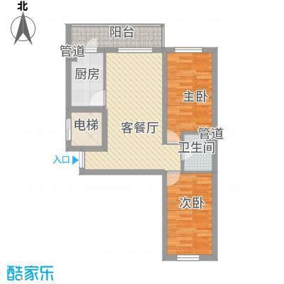 林海华庭4号楼2单元-1户型2室1厅1卫1厨
