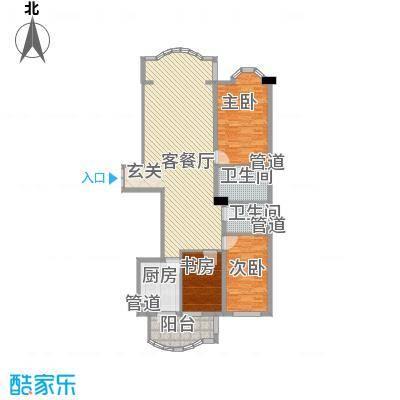 铂宫108.00㎡铂宫户型图3室1厅2卫1厨户型10室