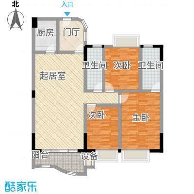 碧琴湾129.20㎡碧琴湾户型图03A单位3室2厅2卫1厨户型3室2厅2卫1厨
