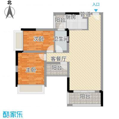 理想0769二期78.00㎡理想0769二期2室户型2室