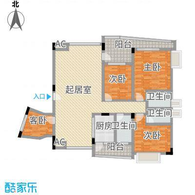 名门豪苑123.00㎡名门豪苑户型图M型3室2厅1厨户型3室2厅1厨