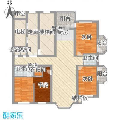 林海华庭125.04㎡1、2号楼3单元-1户型4室2厅2卫1厨