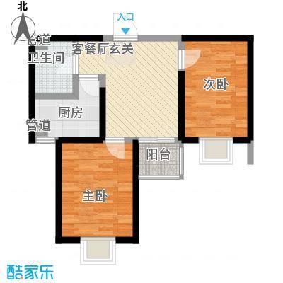 莱茵香榭74.39㎡莱茵香榭户型图4#楼E1户型2室1厅1卫户型2室1厅1卫