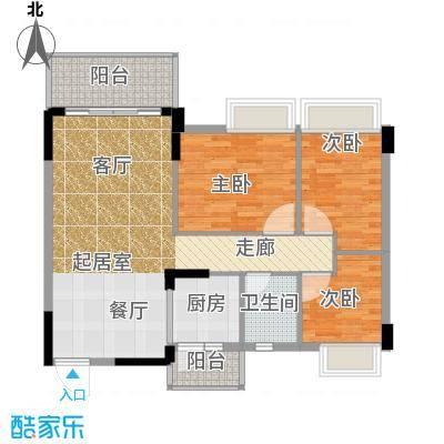 格兰名筑95.00㎡9栋、4栋D2户型3室1卫1厨