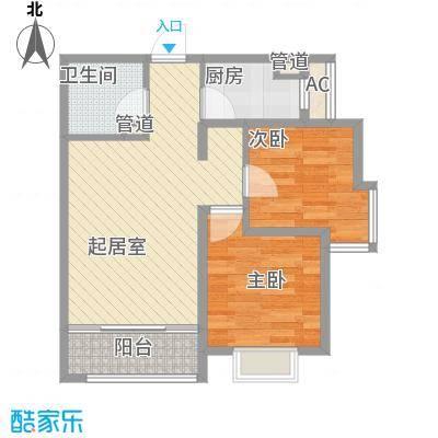 裕峰城市花园89.00㎡裕峰城市花园户型图C户型2室1厅1卫1厨户型2室1厅1卫1厨