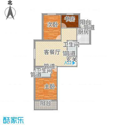 大业时代广场113.50㎡东方明珠嘉苑户型图A2户型3室2厅2卫1厨户型3室2厅2卫1厨