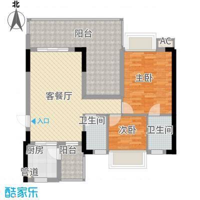 时代名轩89.00㎡时代名轩户型图11座2-11层平面图01单位89m22室2厅2卫1厨户型2室2厅2卫1厨