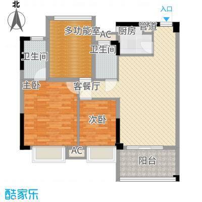 时代名轩91.00㎡时代名轩户型图08座3-17层平面图04单位91m23室2厅2卫1厨户型3室2厅2卫1厨