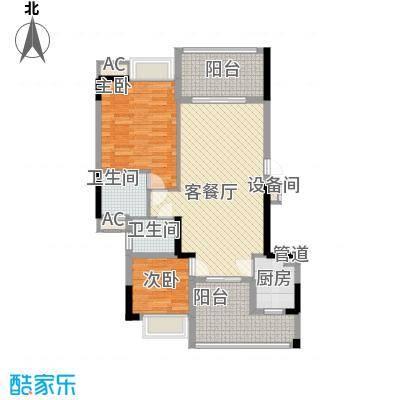 时代名轩92.00㎡时代名轩户型图05座2-11层平面图02单位92m22室2厅2卫1厨户型2室2厅2卫1厨