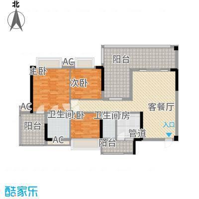 时代名轩123.00㎡时代名轩户型图08座3-17层平面图02单位123m23室2厅2卫1厨户型3室2厅2卫1厨