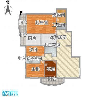 中央经典218.80㎡套型AB户型3室2厅2卫1厨