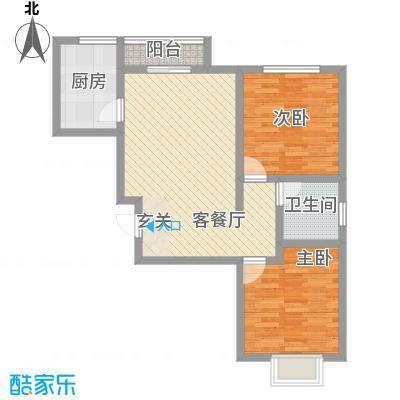东方银座82.00㎡东方银座2室户型2室