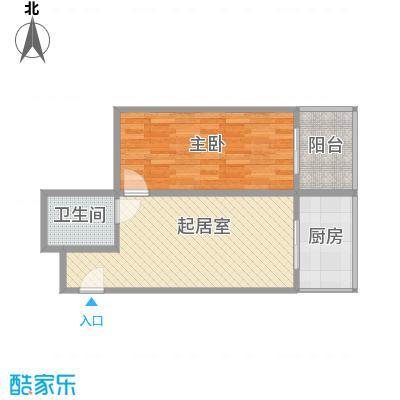 巧克力公寓67.03㎡巧克力公寓户型图户型-061室1厅1卫1厨户型1室1厅1卫1厨