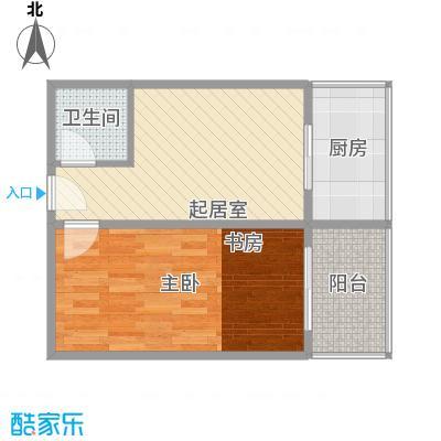 巧克力公寓62.88㎡巧克力公寓户型图户型-071室1厅1卫户型1室1厅1卫