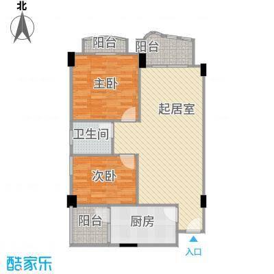 龙福花园95.66㎡龙福花园户型10室