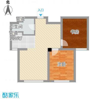 外滩九号74.00㎡外滩九号户型图1#楼G1a户型2室2厅1卫1厨户型2室2厅1卫1厨