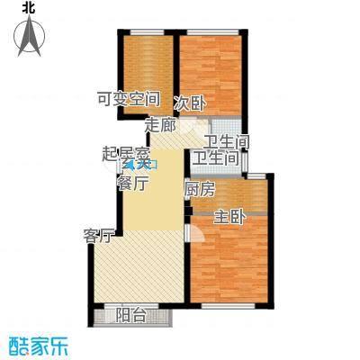 金海湾2期87.62㎡金海湾2期户型图5#、7#楼E户型2室2厅1卫1厨户型2室2厅1卫1厨