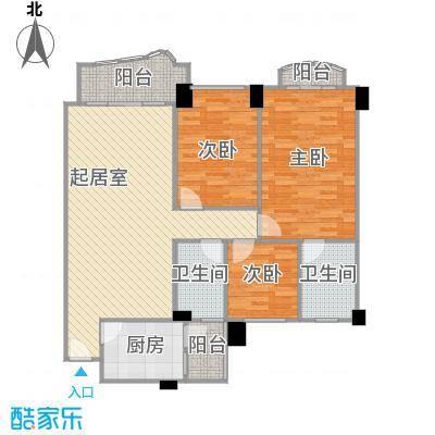 龙福花园125.83㎡龙福花园户型10室