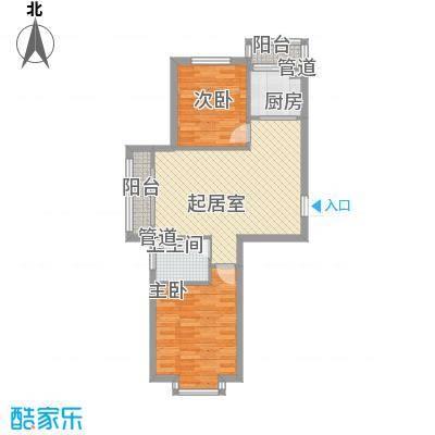 长兴湾一期79.00㎡长兴湾一期户型图一期7号楼标准层J户型2室2厅1卫1厨户型2室2厅1卫1厨