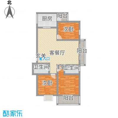 鑫缘佳地鑫缘佳地户型图户型B3三室两厅一厨一卫146.85平米户型10室