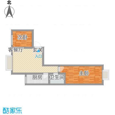 鑫缘佳地鑫缘佳地户型图户型C5两室两厅一厨一卫85.40平米户型10室