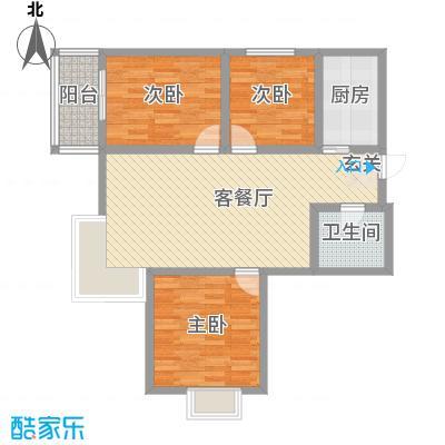 鑫缘佳地鑫缘佳地户型图户型A1三室两厅一厨一卫114.10平米户型10室