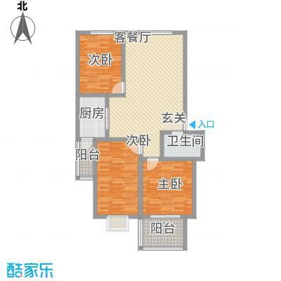 鑫缘佳地鑫缘佳地户型图户型B1三室两厅一厨一卫127.39平米户型10室