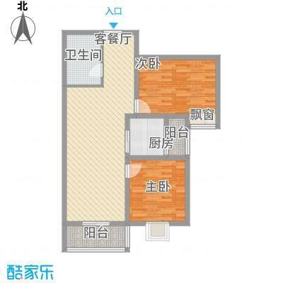 美林湾97.81㎡美林湾户型图97.81平米两室两厅一卫2室2厅1卫1厨户型2室2厅1卫1厨