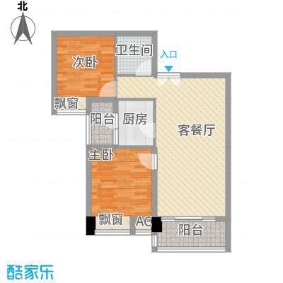 美林湾84.07㎡美林湾户型图84.07平米两室两厅一卫84.072室2厅1卫1厨户型2室2厅1卫1厨