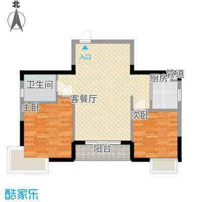锦江花园90.00㎡锦江花园2室户型2室
