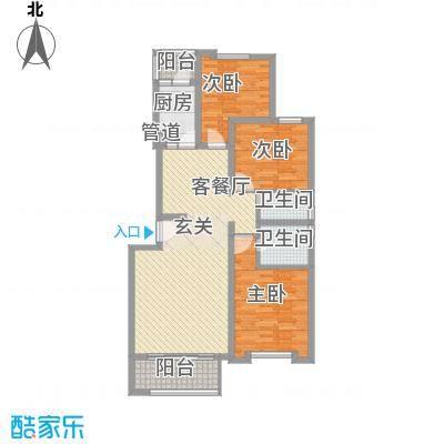 大唐四季花园123.89㎡大唐四季花园户型图B型3室2厅2卫1厨户型3室2厅2卫1厨