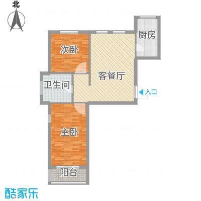 山河嘉园79.30㎡1#楼A户型2室1厅1卫1厨
