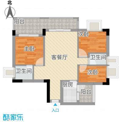 凤岗东江花园75.00㎡凤岗东江花园3室户型3室