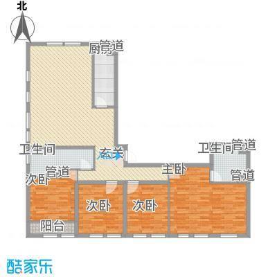 紫金广场183.48㎡紫金广场户型图K户型4室2厅2卫1厨户型4室2厅2卫1厨