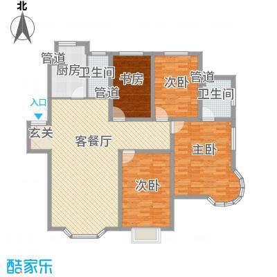颐海听鸥户型图四室两厅两卫 4室2厅2卫1厨