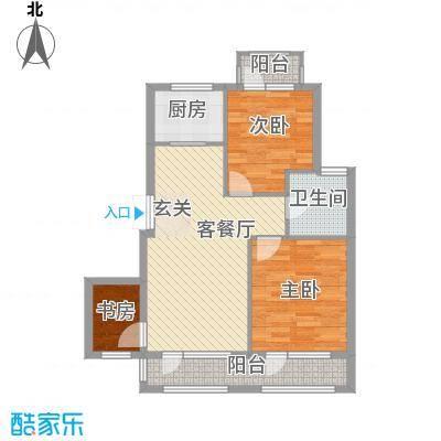 颐海听鸥户型图89.35 3室2厅1卫
