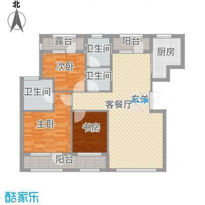 颐海听鸥户型图127.92 3室2厅2卫