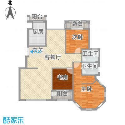 颐海听鸥户型图3室2厅2卫1厨