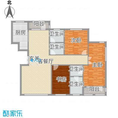 颐海听鸥户型图180.89 3室2厅2卫