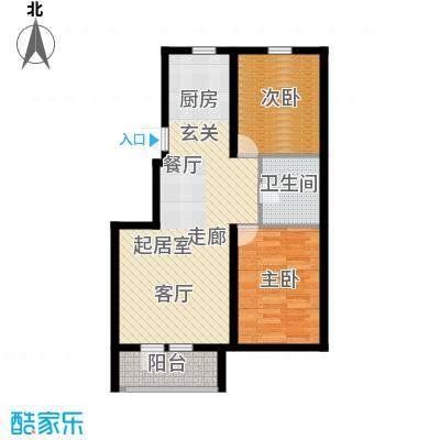 兰亭假日 2室户型图