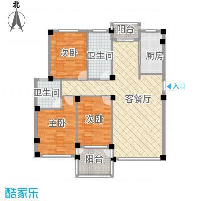 金润花园三期124.12㎡金润花园三期户型图133#楼A户型3室2厅2卫1厨户型3室2厅2卫1厨