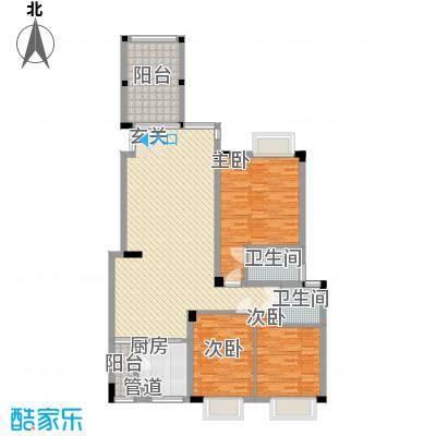江南第一城110.06㎡江南第一城户型图20、22、24、26栋一单元202房3室2厅2卫户型3室2厅2卫