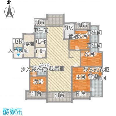新天地华庭三期131.00㎡新天地华庭三期4室户型4室