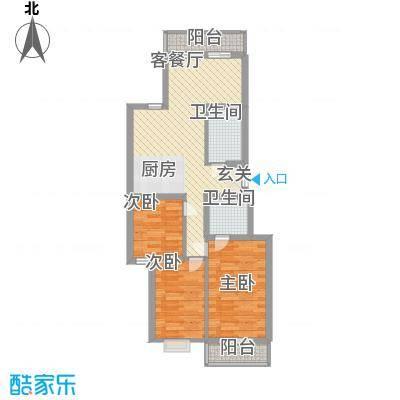 解放南路网通宿舍82.00㎡解放南路网通宿舍2室户型2室