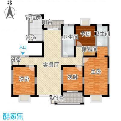 和美第178.50㎡和美第户型图G4室2厅2卫1厨户型4室2厅2卫1厨
