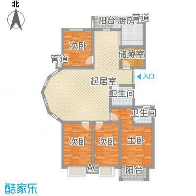 长岛国际160.00㎡长岛国际4室户型4室