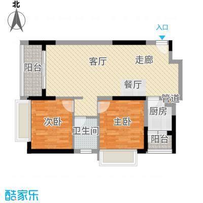 城市风景114.00㎡城市风景2室户型2室