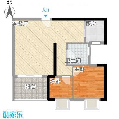 丽景花园78.00㎡丽景花园2室户型2室