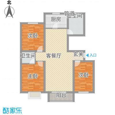 丽景花园106.00㎡丽景花园3室户型3室